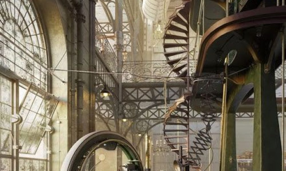 Old-Steampunk-Engine-House-by-Robert-Filip